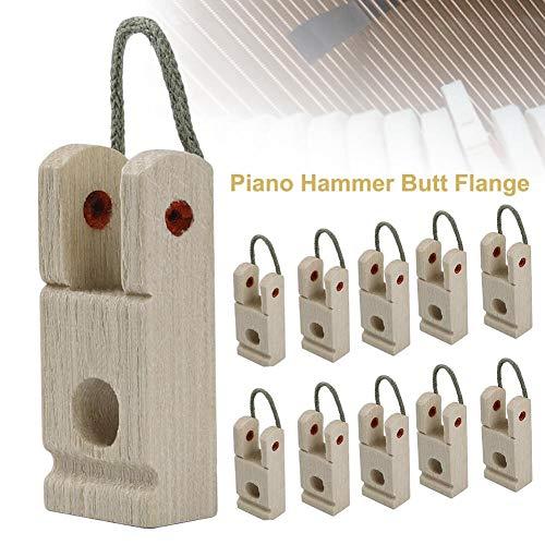 selfdepen 10 STÜCKE Piano Hammer Butt Flange Klavier Zubehör Mit Seil Für Musikliebhaber Anfänger