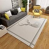 Kids Rugs for Bedrooms Girls Gray Simple Deer Pattern Anti-Slip Living Room Carpet Multi-Size Locker Rug Large Rugs Grey 120X160CM