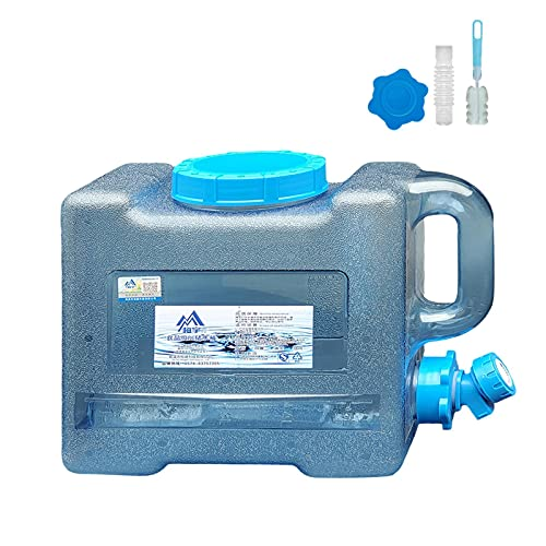 WANGQ Tanque de agua de plástico con grifo impermeable y robusto, para camping al aire libre o para uso familiar