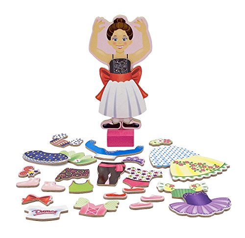 Nina Ballerina Magnetic Wooden Dress-Up Doll