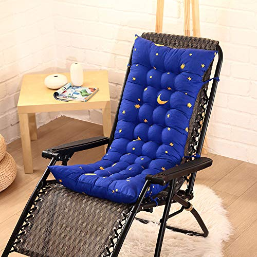 Sun Lounger Cushion Sunbed Cushions Replacement Sunbed High Back Chair Relaxer Chaise Lounge Cushion Garden Sun Lounger Cushions Chair Relaxer Cushions Lounge Chair Cushion 155*48cm Starry Sky