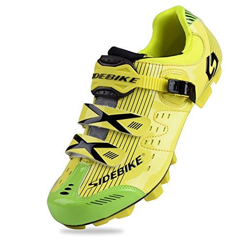 KUKOME MTB Cycling Shoes Men Women (003-MTB Blue Black, US7.5/EU40/Ft25cm)