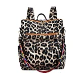 Leopard Print Stylish Backpack Large Casual Daypack Backpack College School Bags (brown)