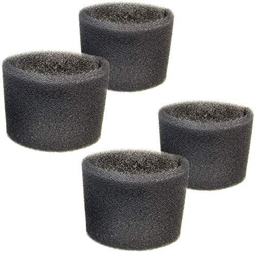 HQRP 4-pack Foam Filter Sleeve for Shop-Vac SS11-450, SS14-300A, SS16-450, SS16-550A, 598-16-27, 598-12-27, 598-08-27, 598-60-27 Walmart Wet Dry Vacuum Series