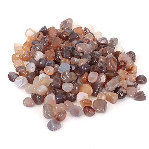 Shiny Stone Pierres décoratives en cristal pour aquarium, gravier de poisson, pierres décoratives pour bricolage, maison, jardin, décoration (agate, 10–15 mm)