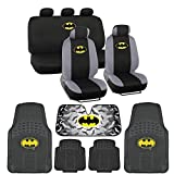 Batman Seat Cover, Rubber Floor Mat and Sun Shade - Warner Brothers 14 Piece...