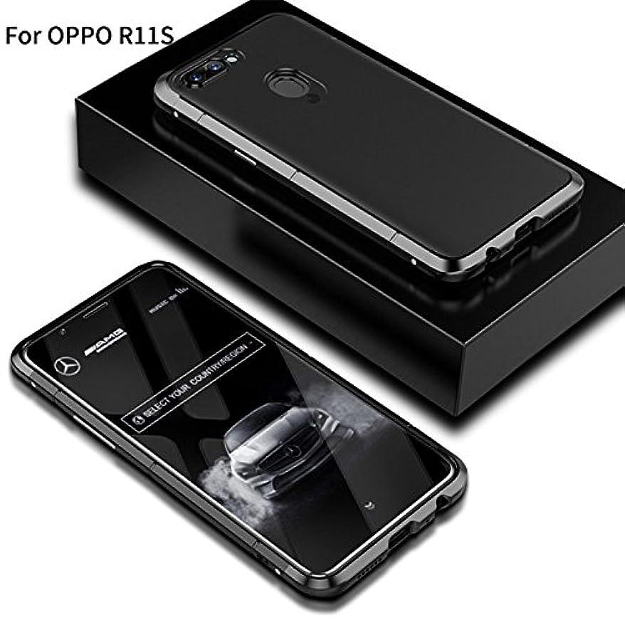 ハリウッドメンダシティ才能Jicorzo - OPPO R11SシェルCoqueのために1メタル+プラスチックでOPPO R11SハードPCケース3については360フルカバレッジラグジュアリーデザイン5.5インチ