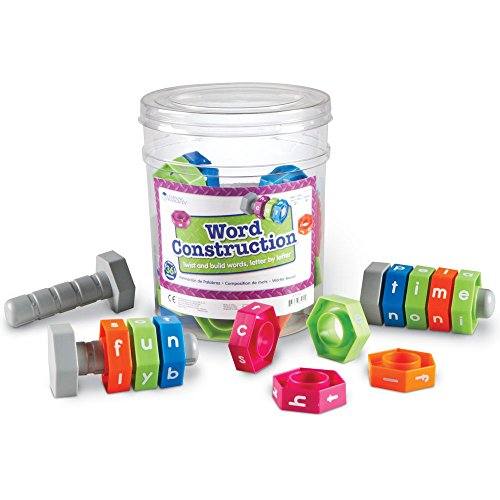 Learning Resources Word Construction, Spelling Activity Kit, Classroom Game, 36 Pieces, Ages 5+