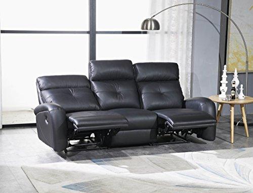 Mapo Möbel Voll-Leder Fernsehsofa Relaxsofa 3-Sitzer 5130-3-S