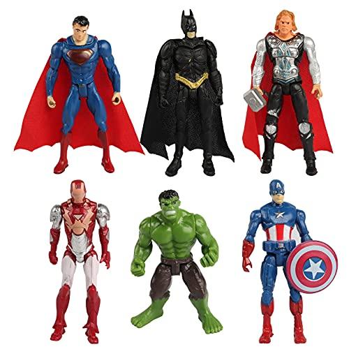 Yisscen Avengers Mini Figuren Set, Superhero Cake Topper, Spiderman Figuren Kuchen Dekoration Party Kuchen Dekoration Supplies, Kindergeburtstag Deko, Geburtstags Party liefert, Tortendeko Junge