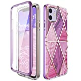 Miracase Compatible with iPhone 11 Case(2019 Release,6.1 Inch) with Built-in Screen Protector, Full Body Protective Shock-Absorption Bumper Cover Case for Apple iPhone 11,Purple