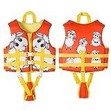 FR&RF Chaleco de natación para niños pequeños Flotadores para niños pequeños Chaleco de niños Ruego de Traje de baño con Correa de Seguridad Ajustable para niños Unisex,Naranja,S