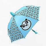 YSNUK Ultraleichter Sonnenschutz UV-Regenschirm, Halbautomatischer Kinderschalter Winddichter Regenschirm Blau Winddicht, regendicht, UV-Schutz
