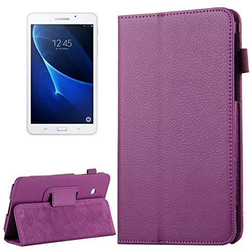 Zhouzl Funda para Tableta Galaxy para Samsung Galaxy Tab A 7.0 / T280 Litchi Texture Funda de Cuero con Tapa magnética Horizontal con Soporte Funda para Tableta Galaxy (Color : Púrpura)