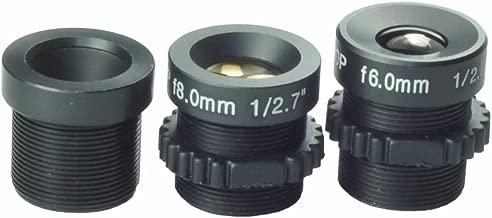 Kits of Lens 6mm,8mm,12mm Board Lens Black for Security CCTV Surveillance Camera