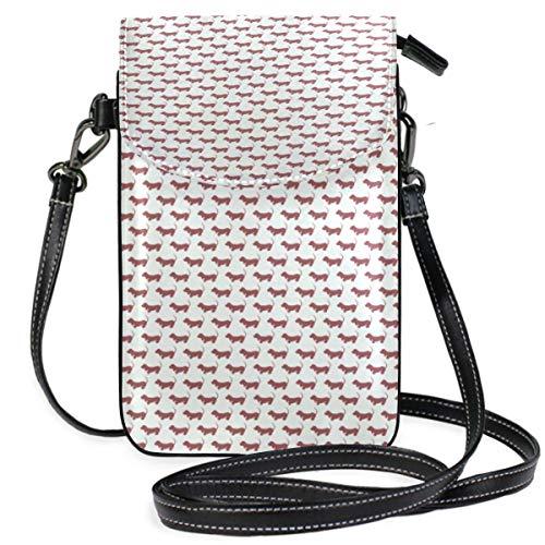 XCNGG Kleine Geldbörse Cute Dogs Pattern Cell Phone Purse Wallet for Women Girl Small Crossbody Purse Bags