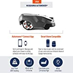 Husqvarna Automower 315X Robotic Lawn Mower 14 Maintain a yard the neighbors will envy with the touch of a button or the Command of your voice; Smart home meets smart lawn with Automower 315x Manage your mower's cutting schedule and track it's exact location with the Automower Connect app and start or stop your mower quickly via voice command using your Alexa or Google Home device Guided by hidden Boundary wires, Automower knows how to smartly maneuver around your yard and when it is time to return to the charging station for a battery recharge