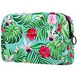 Bolsa de maquillaje para mujer, bolsa de maquillaje con cremallera negra, bolsa de aseo portátil, color verde