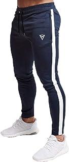 [Manatsulife] メンズ ライン入り ジョガーパンツ スウェットパンツ トレーニングパンツ ジム フィットネス K-10