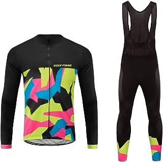 Uglyfrog Mens Cycling Jersey Full Sleeve Winter Spring/Autumn Wear Top Bike Racing Team Suit