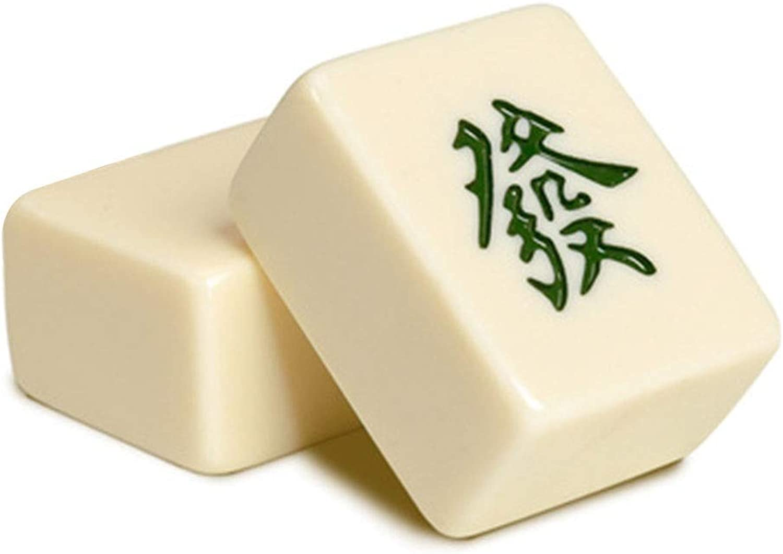 popular Mah Jong Mahjong Household blanco Mahjong Coched Esmeralda Esmeralda Esmeralda de Color Mahjong Hand Handcuffs Home Mahjong Tarjeta de hogar portátil (Color   blancoo, Talla   3.8  3  2cm)  sorteos de estadio