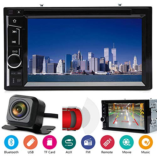 For Chrysler 200 300 Aspen Cirrus In-dash Double Din Car Stereo Bluetooth DVD CD AM/FM Radio Player Mirror Link for GPS, with Rear Camera