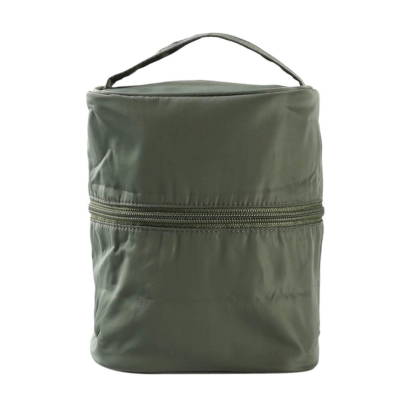 酸度プラス残り物KLUMA 化粧ポーチ 筒状 大容量 メイクバッグ 防水 バニティポーチ 洗面用具入れ 旅行 出張 大容量 軽量 グリーン