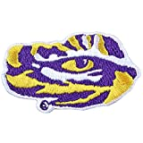 Louisiana State Tigers LSU Tiger Eyes Logo Iron On Embroidered Patch (Medium)