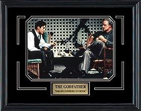 Frez Artwork LLC The Godfather Movie Memorabilia Marlon Brando and Al Pacino Framed Movie Photo with Plate Custom Made Rea...