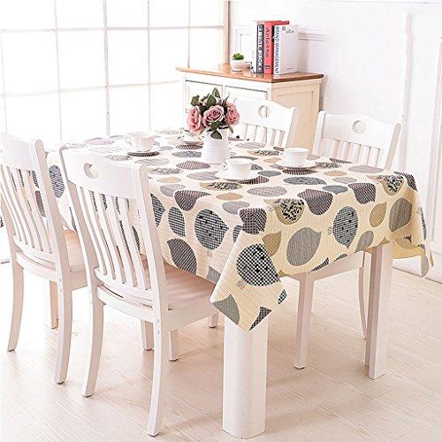 Qiao jin tafelkleed, waterdichte PVC-plastic tafelkleden, tafelkleden, dekzeil, hotel-begindecoratieve tafelafdekking (diverse kleuren)