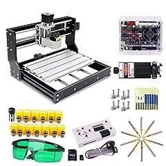 CNC 3018 Pro Engraver freesmachine met 7W laserkop, craftsman168 upgrade versie GRBL control, 3 assen PCB freesmachine met offline controller, met ER11 en 5mm verlengstang*