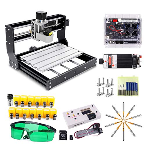 CNC 3018 Pro Engraving Router Machine, craftsman168 Upgrade Version GRBL Control DIY Mini CNC Machine, 3 Axis PCB Milling Machine with Offline Controller, with ER11 and 5mm Extension Rod