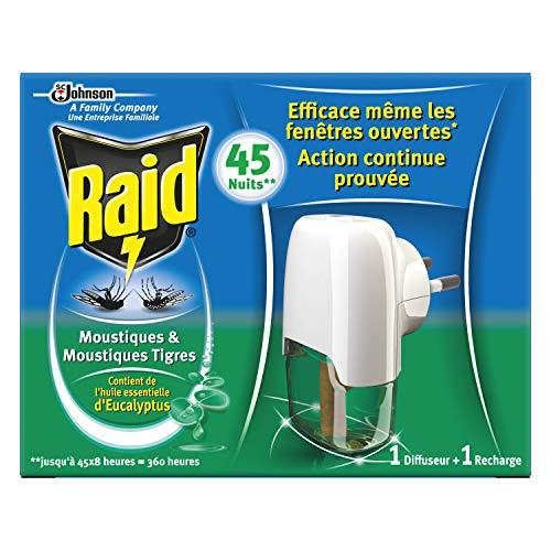 Raid Diffuseur Électrique Liquide À L Eucalyptus, 45 Nuits,