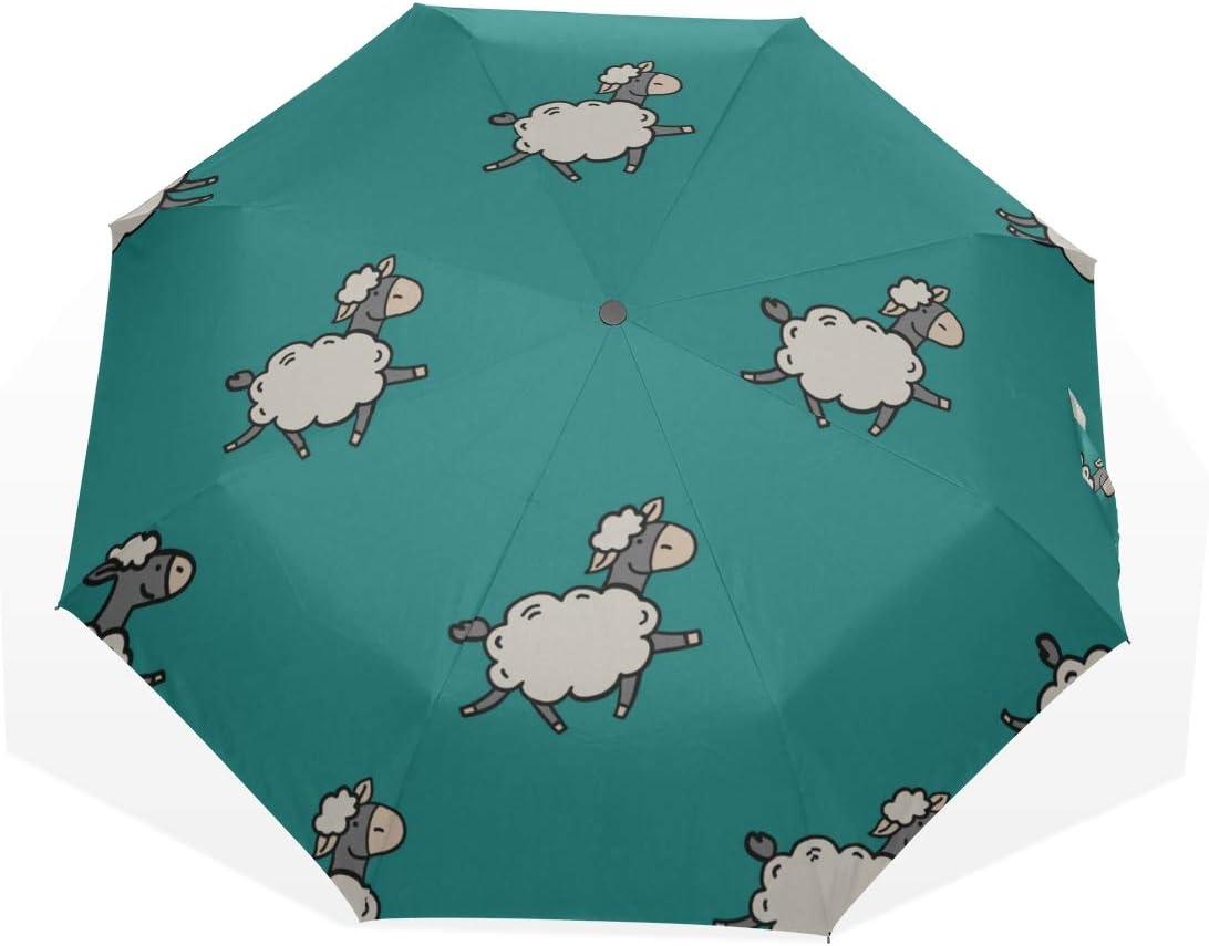Boy Folding 35% OFF Umbrella Cartoon Cute Funny Sheep Wild Animal Ranking TOP9 Fold 3