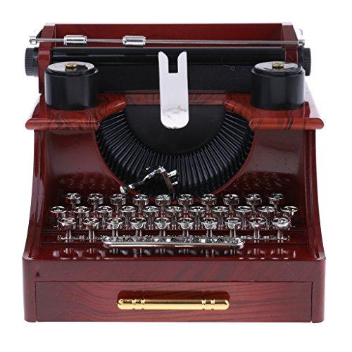Perfeclan Dekorative Mechanische Schreibmaschine Stil Spieluhr Uhrwerk Spielzeug Sammlerstücke