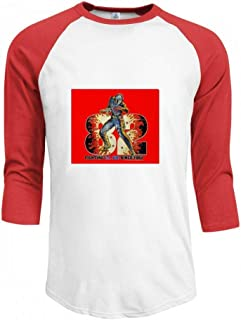 トップス G.I.ジョー・コブラ・コマンダー Men Raglan Sleeve T-Shirt メンズ Tシャツ
