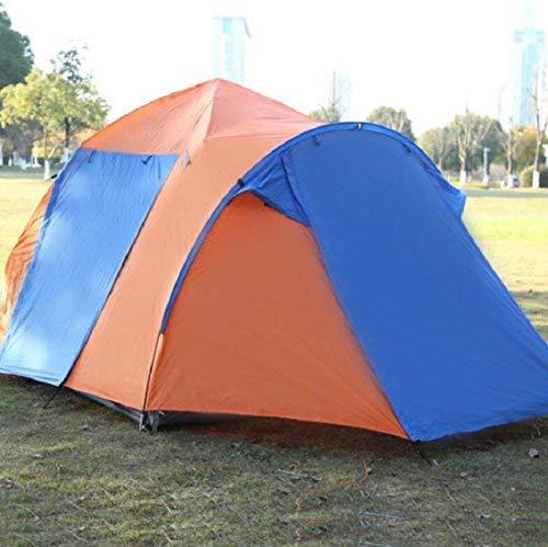 RYP Guo Outdoor Products Outdoor Tentes Automatiques Multifonctionnelles, 3-4 Personnes Double Porte Ouverte Salon Camping Camping Tente, Oxford Cloth Imperméable À l'eau Solaire, Portable Tente Exté