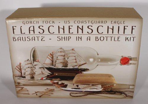 Buddelschiff - Bausatz Gorch Fock 0,7 Liter Baukasten Flaschenschiff Schiff Flasche selberbauen do it Yourself