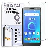 REY Protector de Pantalla para ALCATEL 1X 2019, Cristal Vidrio Templado Premium