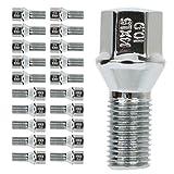 ECCPP 14x1.5 20 Pieces Silver Wheel Lug Shank Length 23mm fits for Mercedes-Benz C250 C300 C350 C63 AMG CL500