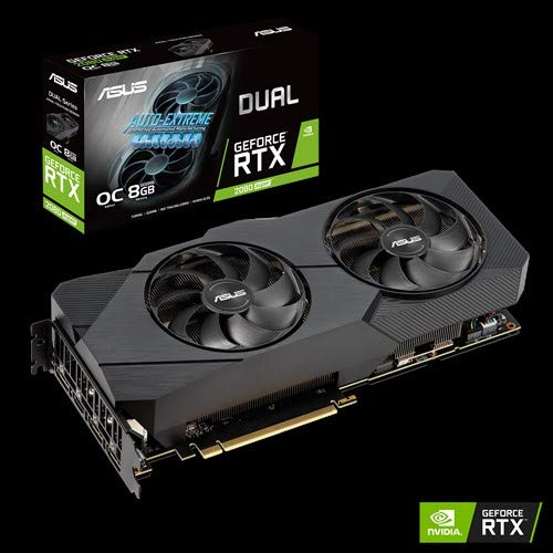 ASUS Dual Nvidia GeForce RTX 2080 Super 6GB EVO V2 OC Edtion Gaming Grafikkarte (GDDR6 Speicher, PCIe 3.0, 1x HDMI 2.0b, 3x DisplayPort 1.4, DUAL-RTX2080S-O8G-EVO-V2)
