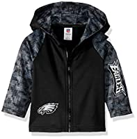 NFL Philadelphia Eagles Boys HOODED JACKET, Team Color, 3T