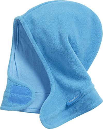 Playshoes Unisex Kinder Fleece-schalmütze mit Klettverschluß softe und atmungsaktive Schlupfm tze, Aquablau, 51-53 EU