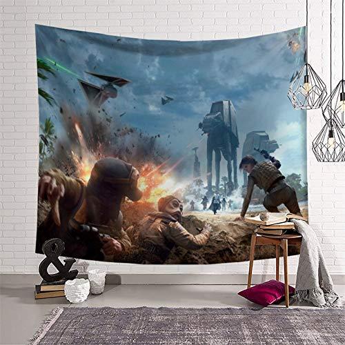 Arazzo da parete Collage Star Wars Movie Battlefront 2015 morbido calore 150 x 210 cm