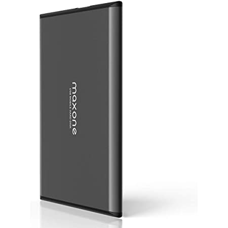 "Disco duro externo Portátil 320GB - 2.5"" USB 3.0 Ultrafino Diseño Metálico HDD para Mac, PC, Laptop, Ordenador, Xbox one, PS4, Smart TV, Chromebook - Grey"