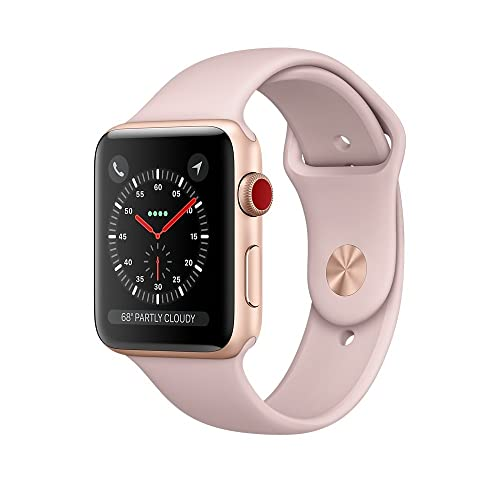 Apple Watch Series 3 42mm Smartwatch (GPS + Cellular, Gold Aluminum Case, Pink