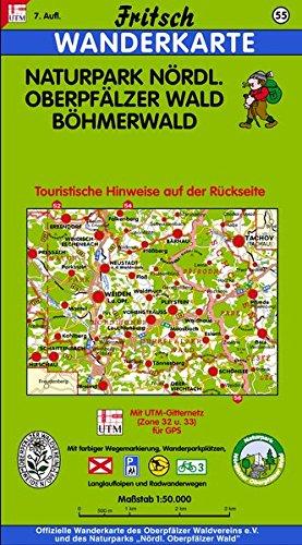 Fritsch Karten, Nr.55, Naturpark Nördlicher Oberpfälzer Wald, Böhmerwald: Mit farbiger Wegemarkierung, Wanderparkplätzen und Langlaufloipen (Fritsch Wanderkarten 1:50000)