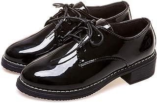 [THLD] マニッシュシューズ レディース ローヒール オックスフォード シューズ レースアップ エナメル 黒 おじ靴 カジュアル レース オックスフォード シューズ おじ靴 レディース エナメル 4cmヒール ローヒール 歩きやすい エナメル調