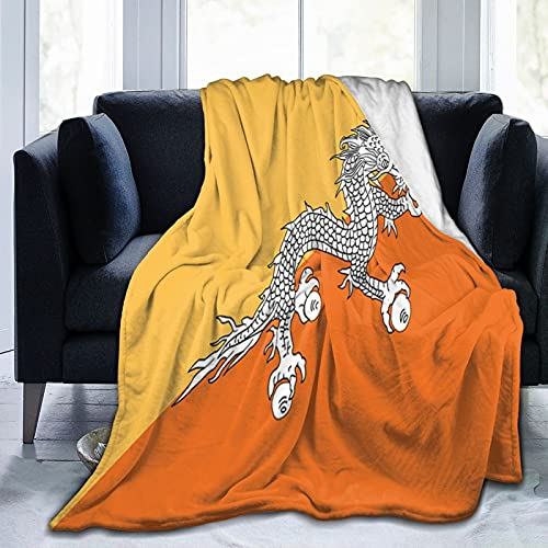 Flanelldecke mit Bhutan-Flagge, flauschig, bequem, warm, leicht, weich