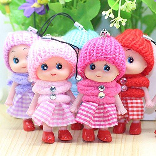 Elegante Puppe, Schottenrock, Dekoration, Handy, Schlüsselanhänger, hängende Spielzeuge, zufällige Farbe, Halloween-Taschen für Kinder
